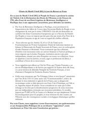 charte de l association pour le retour au franc