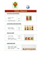 catalogue produits codal 2012