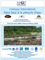 colloque international faire face a la penurie eau