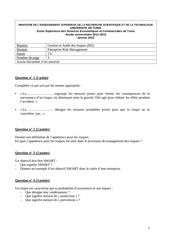 examen erm essec janvier 2012