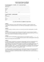 Fichier PDF contrat de droit d image majeur