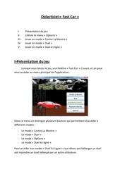 didacticiel fast car