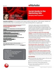 emarketer social media in the marketing mix managing global expansion