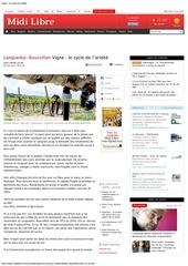 midi libre 09 05 2012 vigne le cycle de l aridite