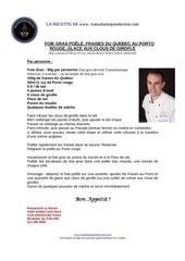 recette foie gras poele