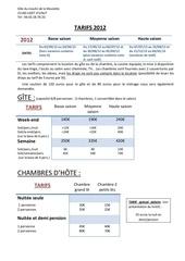 tarifs 2012 le moulin de la moulette