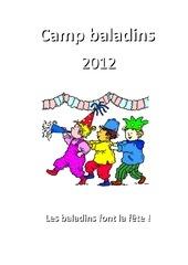 camp baladin 2012 carnet