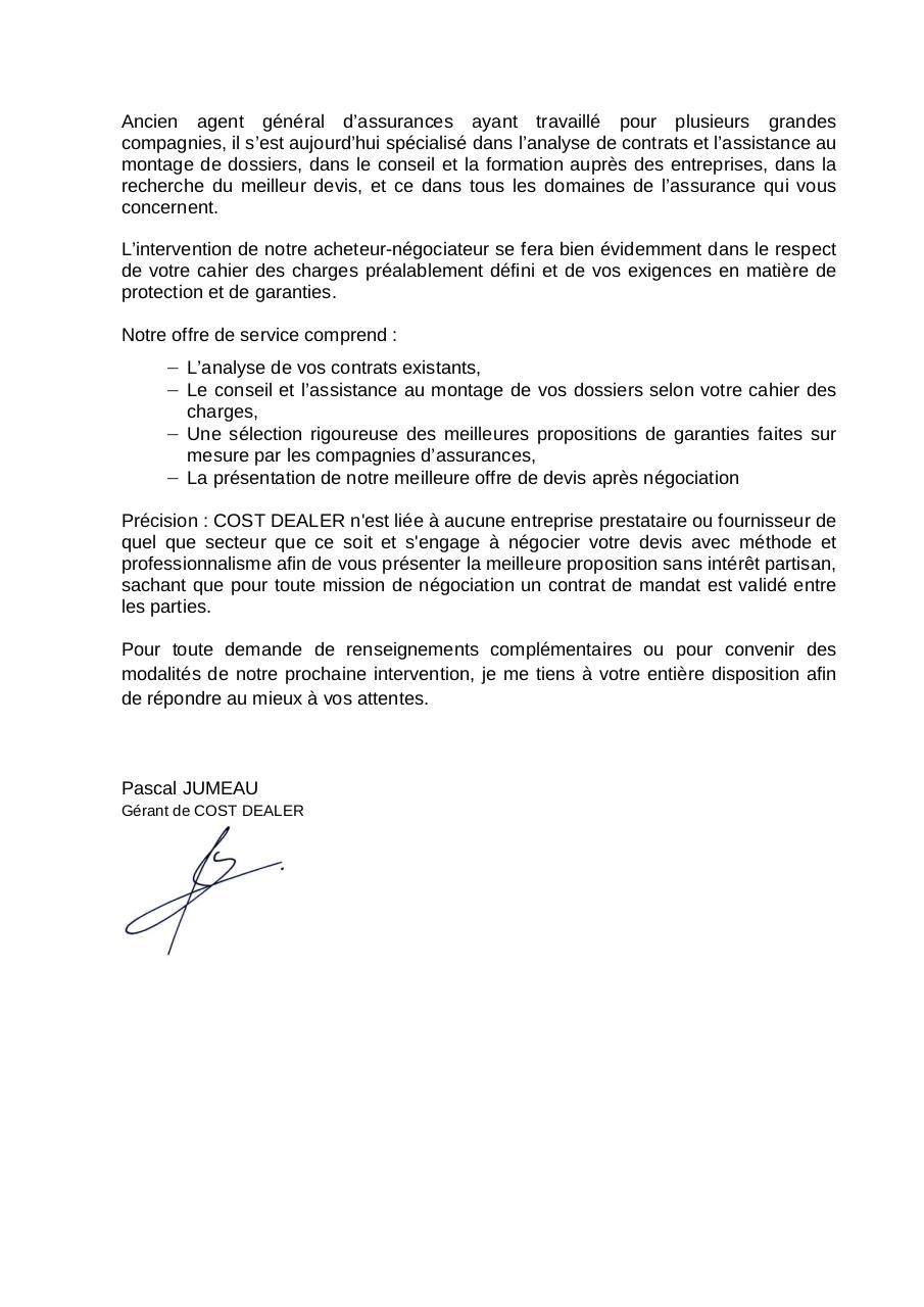 Proposition Commerciale Vos Contrats D Assurances Par User Fichier Pdf