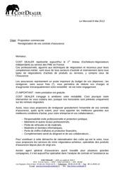 proposition commerciale vos contrats d assurances