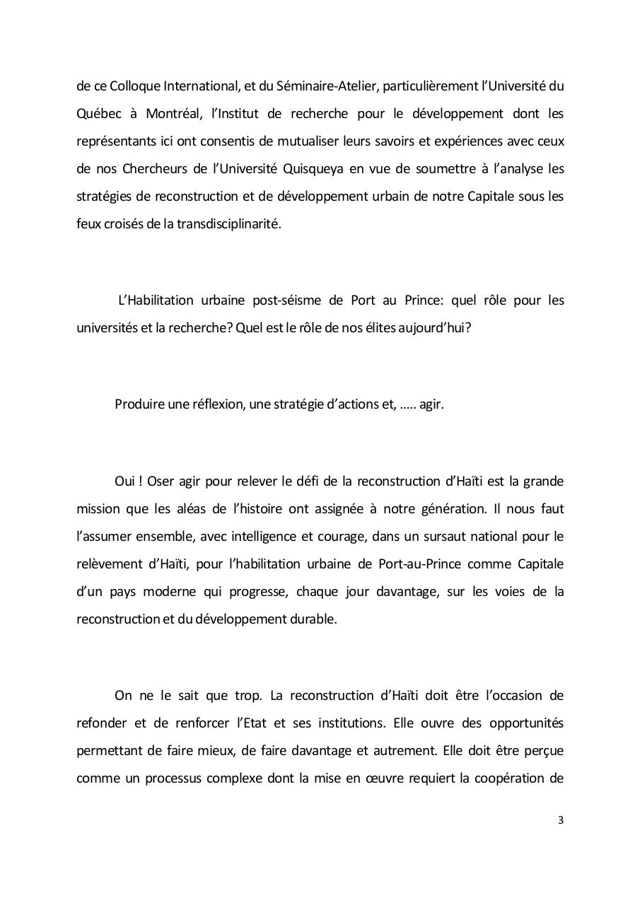 Allocution de Madame le Maire de Port-au-Prince Colloque International Habilitation Urbaine.pdf - page 3/6