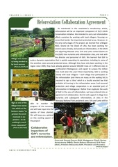 newsletter de la duke university avril 2012 annoncant leur collaboration avec graine de vie