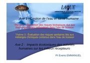 programme de recherche du pr evens emmanuel 01062011