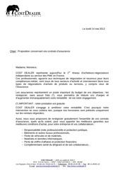 proposition concernant vos contrats d assurance
