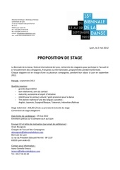 annonce stagiaires 2012