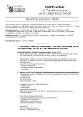 Fichier PDF pv seance