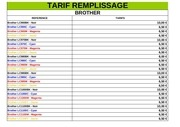 tarifs facebook