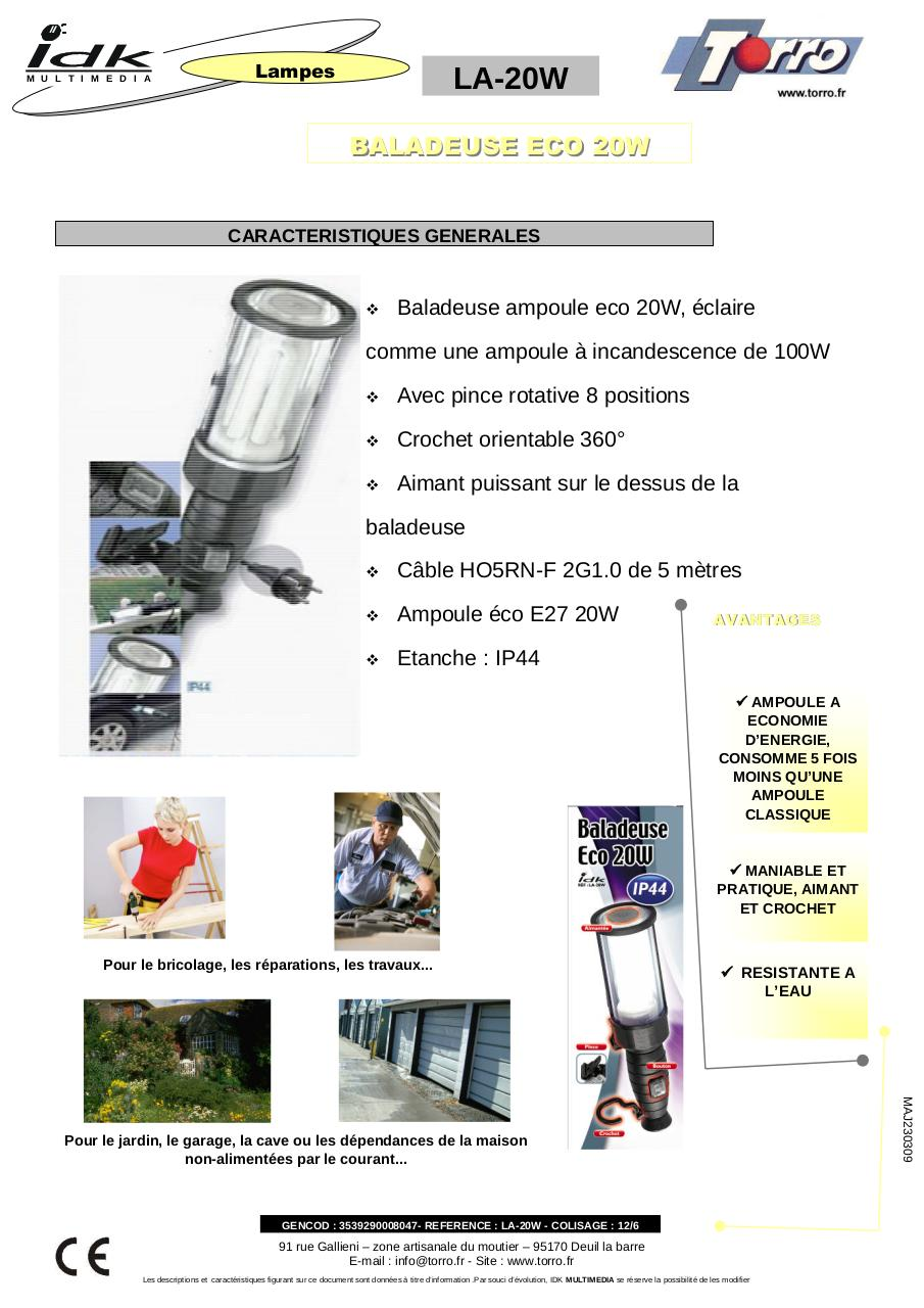 Aperçu du document torro LA 20W.pdf - page 1/1