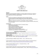 cv secretaire medicale aurore pdf pvtistes 1