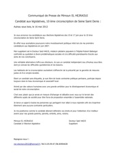 communique de presse mimoun el hejraoui candidat 10 eme 93