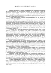 mai 2012 des dangers menacent l ecole de la republique 1