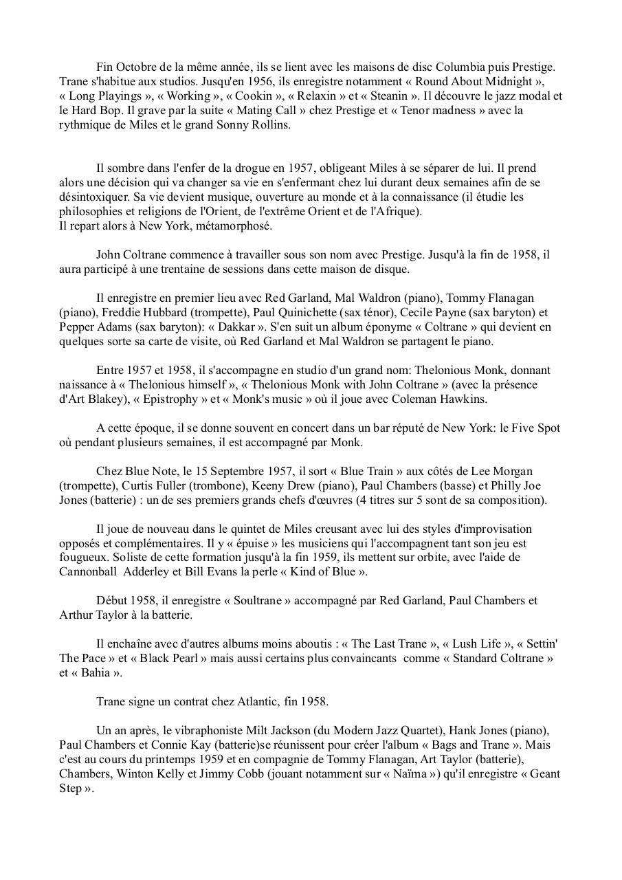 John Coltrane par remi - Fichier PDF