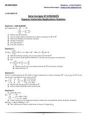 l1 seg math ii serie corrigee n 3 espaces vectoriels applications lineaires