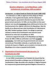cours mutations de la france depuis 1945