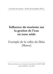 influence du tourisme martin memoire