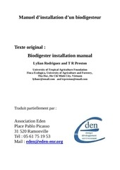 manuel d installation d un biodigesteur