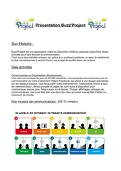 Fichier PDF presentation buzz project