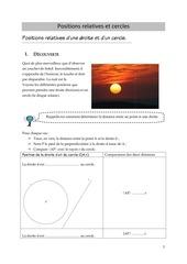 positions relatives et cercles