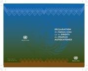 declaration des droits des peuples autochtones 1