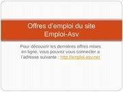 Fichier PDF offres d emploi du site emploi asv pdf