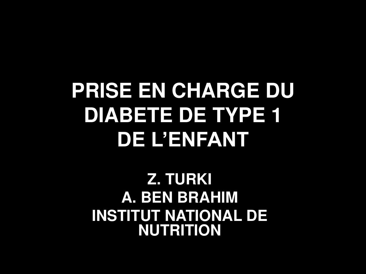 Aperçu du document PRISE EN CHARGE DU DIABETE DE TYPE 1.pdf - page 1/34