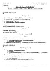 Fichier PDF l 1 math serie corrigee n 1 fonctions d une variable reelles developpement limites