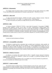 Fichier PDF statuts du fonds dotation pour le club