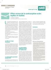 effets osseux de la contraception orale