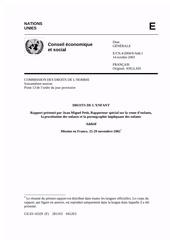 rapport onu juan manuel petit 2003