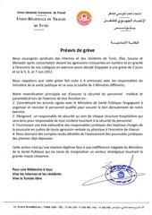 Fichier PDF ugtt preavis de greve des internes et des residents 5 6 7 juin