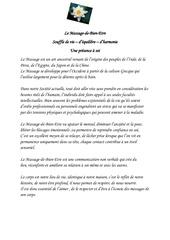 Fichier PDF article sur le massage et sur le reiki