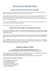 declaration cer mai 2012