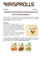 krisprolls infopresse avril 2012