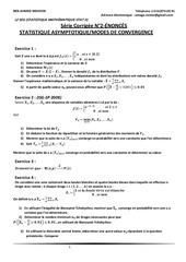 Fichier PDF l2 seg stat iiserie corrigee n 2 statistique asymptotique modes de convergence