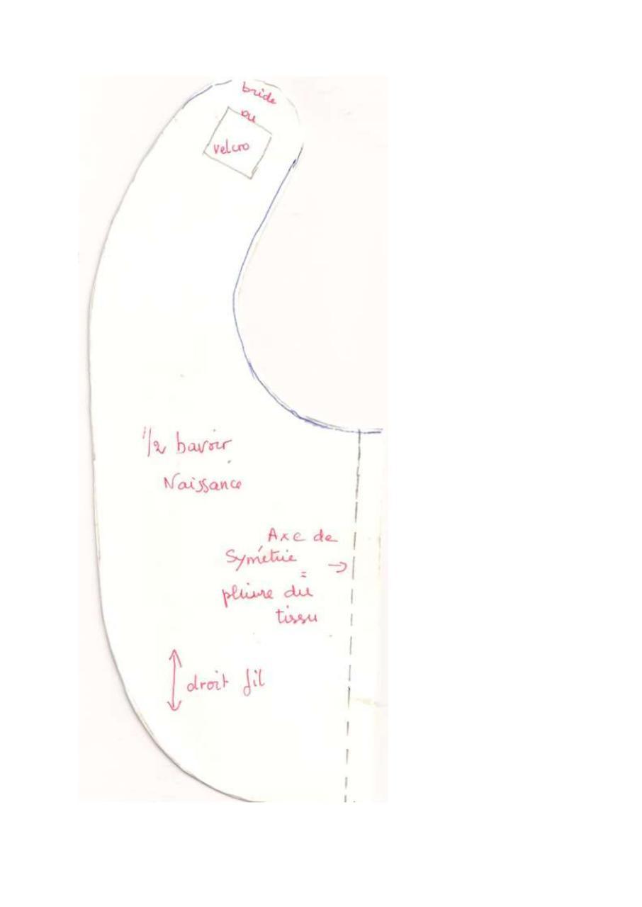 gabarit bavoir b b par moricard fichier pdf. Black Bedroom Furniture Sets. Home Design Ideas