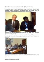 visite du representant de l iday internation a goma aped