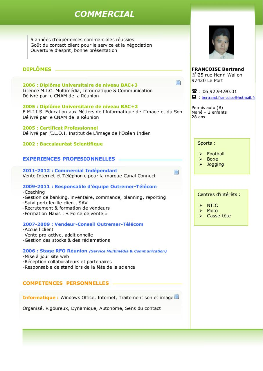 cv bertrand pdf par free cv