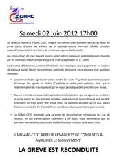 greve reconduite a la sncf ce samedi 02 juin