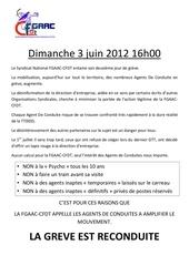 dimanche 03 juin 2eme jour greve fgaac cfdt a la sncf on continue