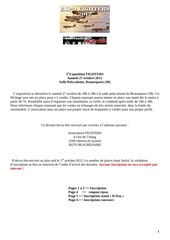 Fichier PDF dossier inscription 2012