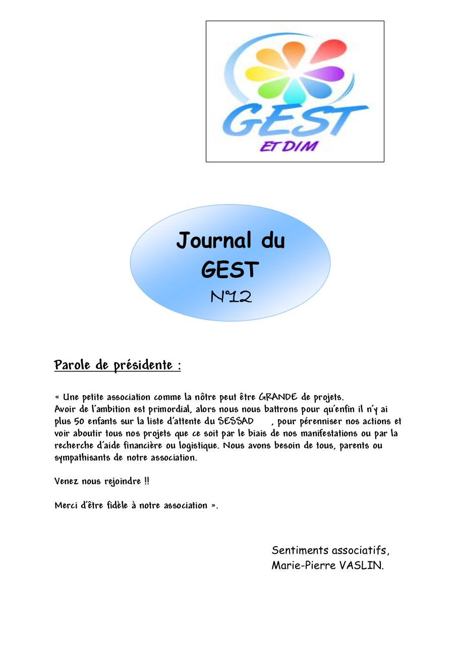 Aperçu du document Journal du GEST DIM 2012.pdf - page 1/18